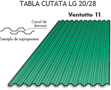 Tabla cutata Ventotto 11