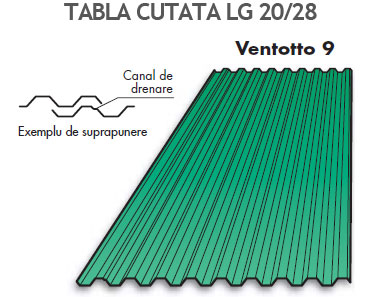 Tabla cutata Ventotto 9